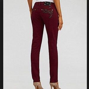 Miss me burgundy jeans.